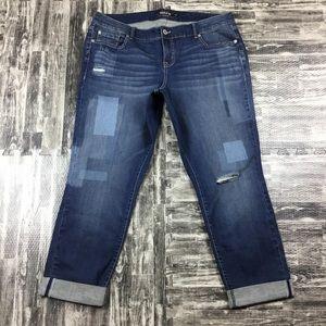 Torrid Plus Size 18R Pants Jeans Patches New